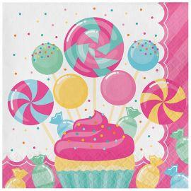 16 Guardanapos Candy 33 cm