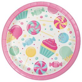 8 Platos Candy 18 cm