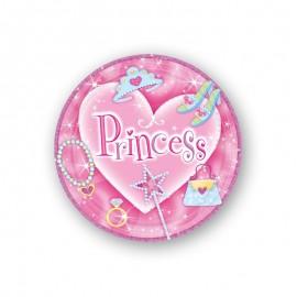 8 Platos Princesa 18 cm