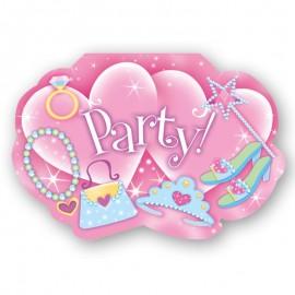 8 Invitaciones Princesa