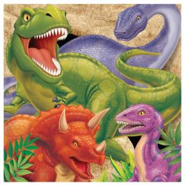 16 Servilletas Dinosaurios 33 cm