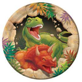 8 Platos de Dinosaurios 18 cm