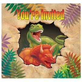 8 Invitaciones Dinosaurios