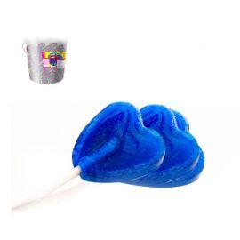 Bolsa de Piruletas Coração Azul 175 Uds