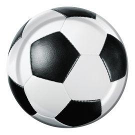 8 Platos Fútbol 18 cm