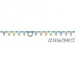 Pancarta Happy Birthday Colorines