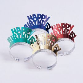 4 Tiaras Happy Birthday