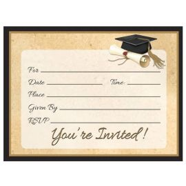 8 Invitaciones Sophisticate Grad