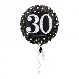 Balão Foil 30 anos Elegant 43 cm