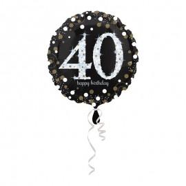 Balão Foil 40 anos Elegant 43 cm