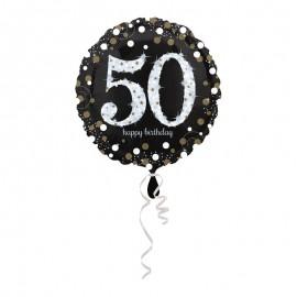 Balão Foil 50 anos Elegant 43 cm