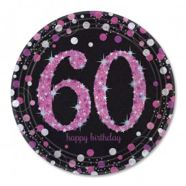 8 Platos 60 Elegant Pink 23 cm