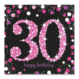 16 Servilletas 30 Elegant Pink 33 cm
