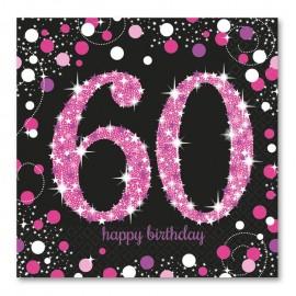 16 Servilletas 60 Elegant Pink 33 cm