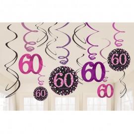 12 Colgantes 60 Elegant Pink