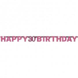 Grinalda 30 anos Happy Birthday Elegant Pink