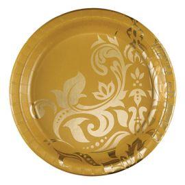 18 Pratos Bodas de Ouro 26 cm