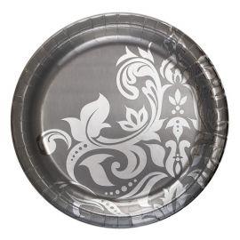 18 Pratos Bodas de Prata 26 cm