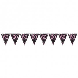 Bandeirolas 60 Anos Elegant Pink