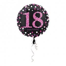 Balão Foil 18 anos Elegant Pink 43 cm