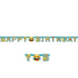 Guirnalda con Emoticonos Happy Birthday