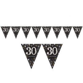 Banderínes de cumpleaños 30 Elegant