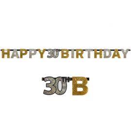 Pancarta 30 Elegant Happy Birthday