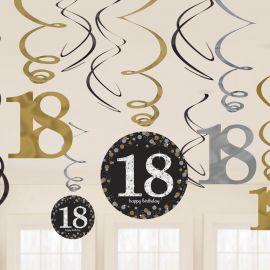 12 Decorativos Pendentes 18 anos Elegant