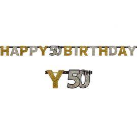 Grinalda 50 anos Happy Birthday Elegant