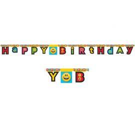 Grinalda Emoticomes Happy Birthday 210 cm