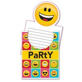 8 Invitaciones Emoticonos