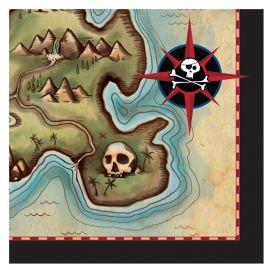 16 Guardanapos Barco Pirata 25 cm