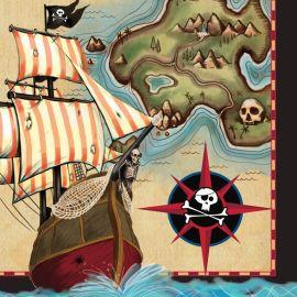 16 Guardanapos Barco Pirata 33 cm