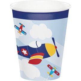 8 Copos Aviãozinhos 266 ml