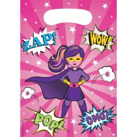 8 Sacos Super Heroi Menina