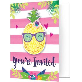 8 Invitaciones Tropical