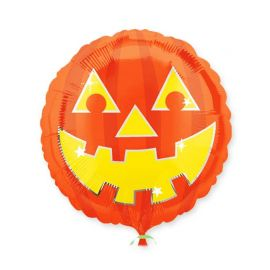 Balão Redondo Foil Abóbora
