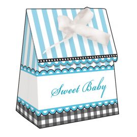 6 Cajitas Sweet Baby Feet Blue