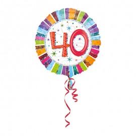 Balão Foil 40 anos Radiant