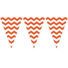 Banderín Triangular Chevron Naranja