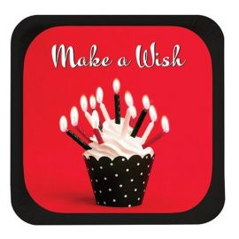 8 Platos Sweet Cupcake 18 cm