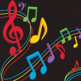 16 Guardanapos Música 25 cm