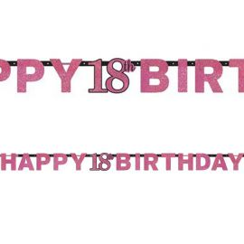 Guirnalda 18 cumpleaños Happy Birthday
