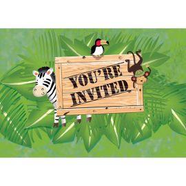 8 Convites Safari