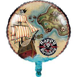 Balão Pirate's Map 45 cm