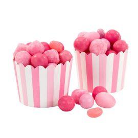 20 Cápsulas Cupcake con Rayas Rosas