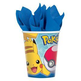 8 Vasos Pokémon 266 ml