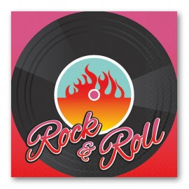 16 Servilletas Rock & Roll 25 cm