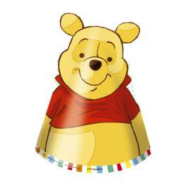 6 Chapéus Winnie the Pooh de Papel