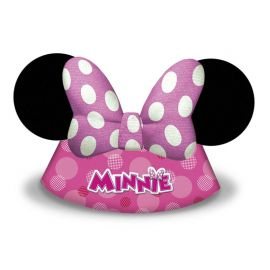 6 Chapéus Minnie Mouse de Papel